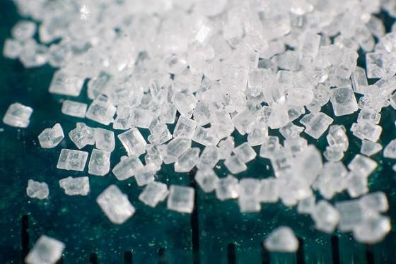 Makroaufnahme von Zucker.