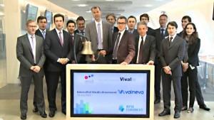 Das Velneva Team beim Handelsstart an der NYSE Euronext