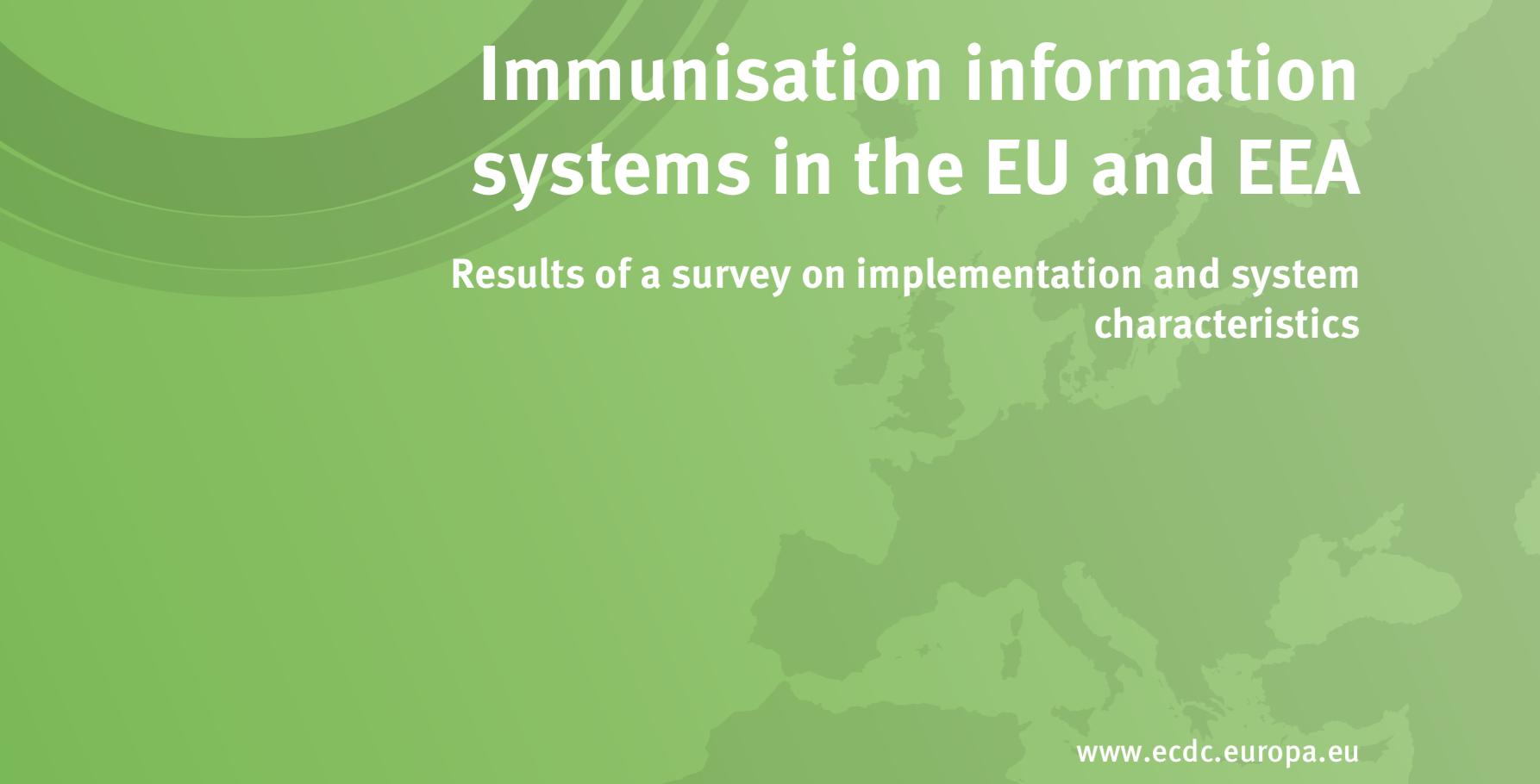 Screenshot aus dem Dokument des ECDC zur Umfrage zu einem Immunisierungsinformationssystem