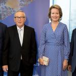 Vytenis Andriukaitis, Jean-Claude Juncker, Mathilde, Queen of the Belgians, and Tedros Adhanom Gebreyesus auf dem Impfstoffgipfel. Quelle: EU-Kommission
