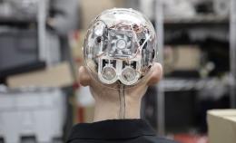 Schädel des humanoiden Roboters Sophia. Quelle: Hanson Robotics