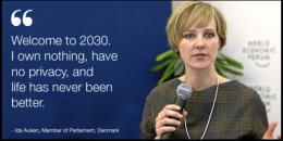 Ida Auken bei ihrem Vortrag auf dem Weltwirtschaftsforum. Quelle: WEF