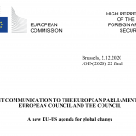 "Screenshot des EU-Dokumentes ""A new EU-US agenda for global change "". Quelle: EU-Kommission"