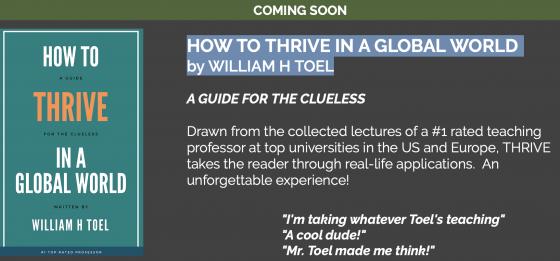 """Bald erhältlich: William Toels neues Buch """"Wie man in einer globalen Welt Erfolg hat – Ein Leitfaden für Ahnungslose"""". Quelle: Screenshot von ICA Press."""