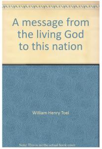 """William Toels Buch """"Eine Nachricht des lebenden Gottes an diese Nation"""". Quelle: Screenshot von Amazon."""